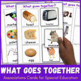 What Goes Together - Associations Cards for Speech Therapy