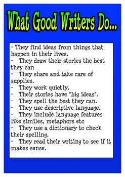 WHAT GOOD WRITERS DO POSTER