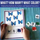 Adapted Book for Autism - WHAT? HOW MANY? WHAT COLOR? Book 1