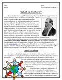 WHAT IS CULTURE? Reading and comprehension questions