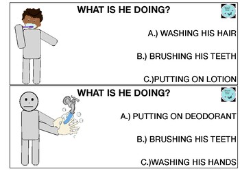 WHAT IS HE/SHE DOING HYGIENE TASK CARDS