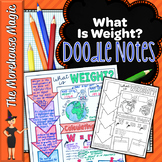 What is Weight Doodle Notes | Science Doodle Notes