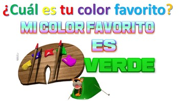 WHAT IS YOUR FAVORIE COLOR? SPANISH CLASS K-12