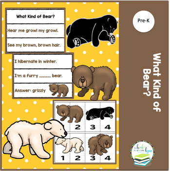 WHAT KIND OF BEAR?   Thematic Pocket Chart Riddle