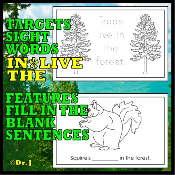 WHAT LIVES IN THE FOREST (Sight Words: lives, in, the)