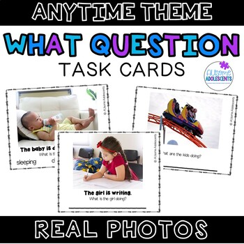 WHAT Question Real Photo Task Cards