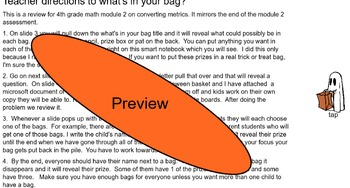 WHAT'S IN THE BAG -4TH GRADE MOD 2 MATH REVIEW