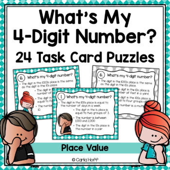 Place Value Task Cards - 4-Digit Numbers  Task Cards