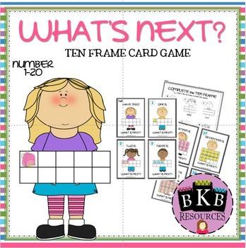 WHAT'S NEXT? Ten Frame Card Game