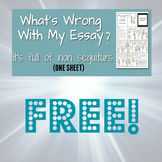 WHAT'S WRONG WITH MY ESSAY? (It's full of non sequiturs) FREE ONE SHEET
