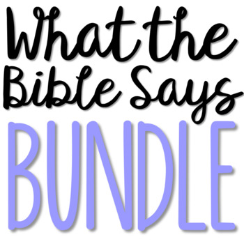 WHAT THE BIBLE SAYS... Teen Bible Discovery Brochure Project BUNDLE
