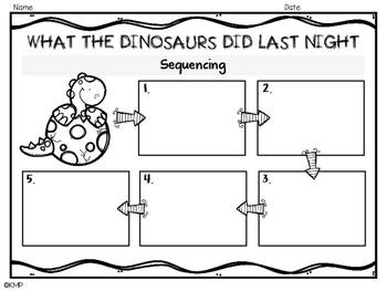 WHAT THE DINOSAURS DID LAST NIGHT [B2S Unit]