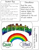 WHAT WILL THE WEATHER BRING? File Folder Game - cause & effect