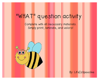 WHAT Question Adapted Book for Speech Therapy