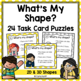 Geometric Shapes Task Card Riddles -  2D and 3D Shapes