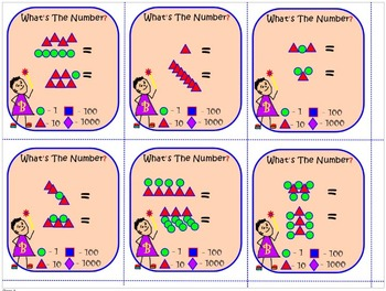 Number Recognition and Place Value: WHAT'S THE NUMBER? Task Cards That Work!