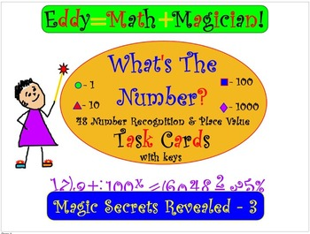 Number Recognition and Place Value: WHAT'S THE NUMBER? Tas