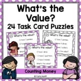 Money Task Cards  - Counting Coins - Follow the Clues!