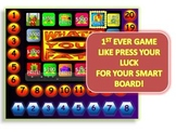 WHAT'S YOUR FATE?  A PRESS YOUR LUCK-LIKE SMART BOARD GAME TEMPLATE