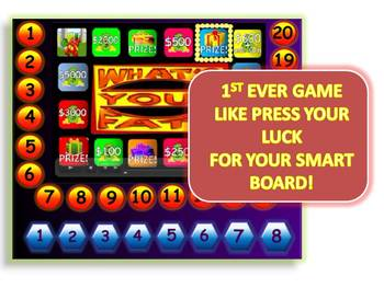 what's your fate? a press your luck-like smart board game template, Modern powerpoint