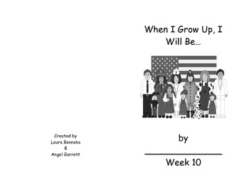 WHEN I GROW UP WORD BOOK- WEEK 10