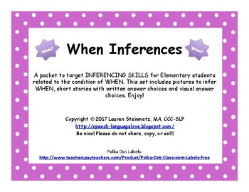WHEN Inference Pack