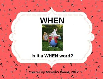 WHEN Is It A When Word?