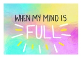 WHEN MY MIND IS FULL - Mindfulness picture book!