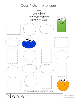 Identify and Color 2D Shapes   FREE