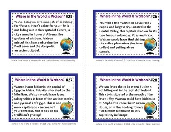 WHERE IN THE WORLD IS WATSON? • World Capitals