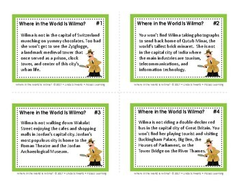 WHERE IN THE WORLD IS WILMA? • A GEOGRAPHY GAME OF WORLD CAPITALS