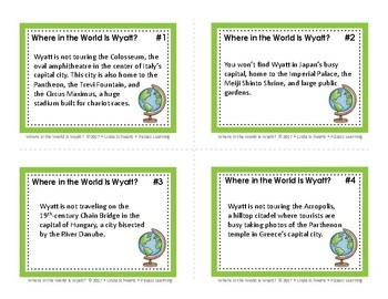 WHERE IN THE WORLD IS WYATT? • A Geography Game of World Capitals