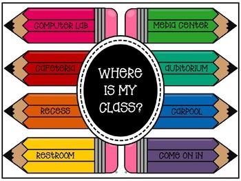 WHERE IS MY CLASS DOOR SIGN