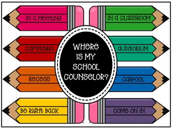 WHERE IS MY SCHOOL COUNSELOR DOOR SIGN