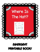WHERE IS THE HAT? EMERGENT READER BOOK  * SEUSS BOOK STUDY