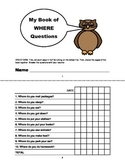 WHERE QUESTIONS Assessment Booklet- Speech Therapy, Autism, Language