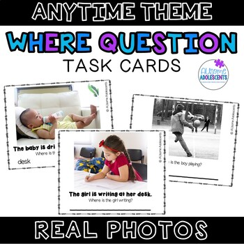 WHERE Question Real Photo Task Cards