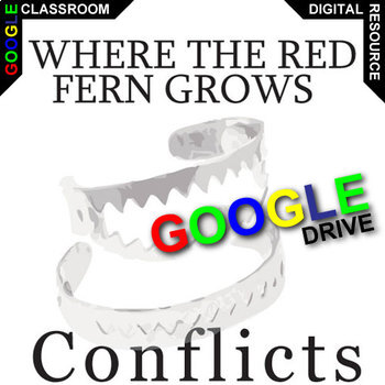 WHERE THE RED FERN GROWS Conflict Graphic Organizer (Created for Digital)