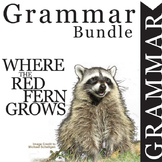 WHERE THE RED FERN GROWS Grammar Commas Conjunctions Prepo
