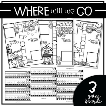 WHERE WILL WE GO? {Partner Game for Letter Recognition & Fluency}