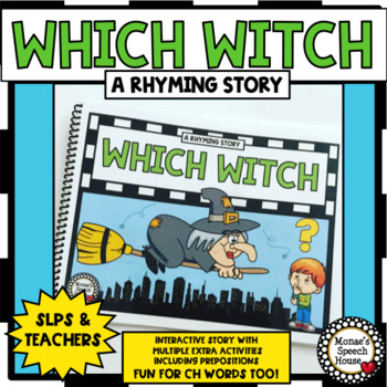 WHICH WITCH BOOK & BUNDLE! PREPOSITIONS worksheets Early Literacy