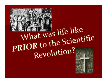 WHII.6a Scientific Revolution Unit - 1 Day of Materials an