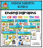 Ending Digraphs BUNDLE {P4 Clips Trioriginals Digital Clip Art}