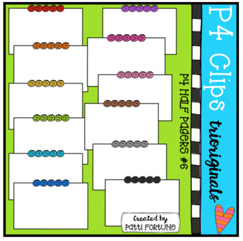 P4 Half Pagers BUNDLE (P4 Clips Trioriginals Clip Art)