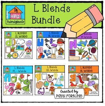 L Blends BUNDLE {P4 Clips Trioriginals Digital CLipart}