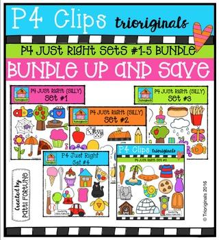 P4 Just Right Sets #1-5 BUNDLE {P4 Clips Trioriginals Digi