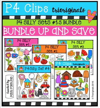 P4 SILLY Sets BUNDLE {P4 Clips Trioriginals Digital Clip Art}