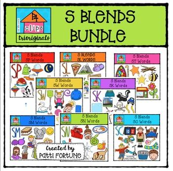 S Blends BUNDLE {P4 Clips Trioriginals Digital Clip Art}