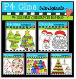 P4 COUNTS Christmas BUNDLE (P4 Clips Trioriginals Digital Clip Art)