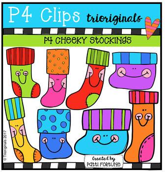 P4 CHEEKY BUNDLE (P4 Clips Trioriginals Clip Art)